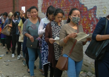 कोरिया जान लालायित नेपाली महिला